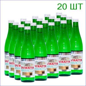 """Вода минеральная """"Багиатти"""" 0,5/20/Стекло/газ."""