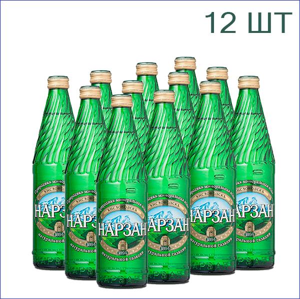 """Минеральная вода """"Нарзан"""" натуральной газации 0,5л./12/СТ"""