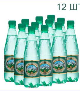 """Минеральная вода """"Нарзан"""" натуральной газации 0,5л./12/ПЭТ"""