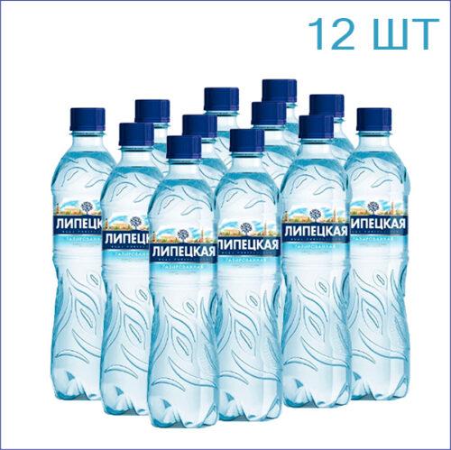 """Вода минеральная """"Липецкая"""" 0,5л./12/ПЭТ/газ"""