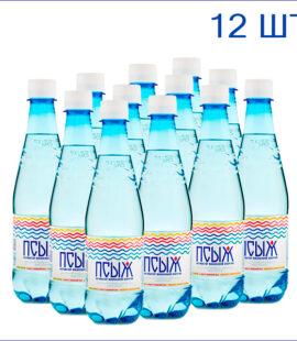 """Вода минеральная """"Псыж"""" 0,45л./12/ПЭТ/газ"""