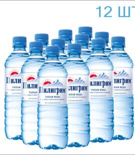 """Вода питьевая """"Пилигрим"""" 0,5л./12/ПЭТ/негаз"""