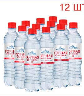 """Вода питьевая """"Горная вершина"""" 0,5л./12/ПЭТ/газ"""