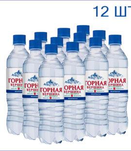 """Вода питьевая """"Горная вершина"""" 0,5л./12/ПЭТ/негаз"""