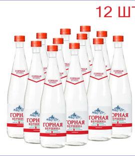 """Вода питьевая """"Горная вершина"""" 0,5л./12/СТ/газ"""