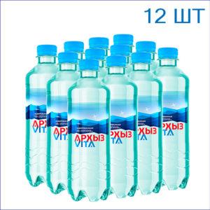 """Вода питьевая """"Архыз"""" 0,5л./12/ПЭТ/газ"""