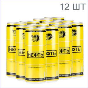 """Энергетический напиток """"Нефть"""" Апельсин-Маракуйя 0,33л./12/ж/б/газ"""