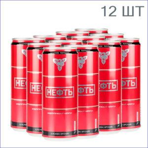 """Энергетический напиток """"Нефть"""" Клюква-Арония 0,33л./12/ж/б/газ"""