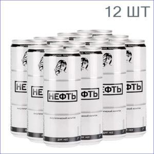 """Энергетический напиток """"Нефть"""" Для неё 0,33л./12/ж/б/газ"""
