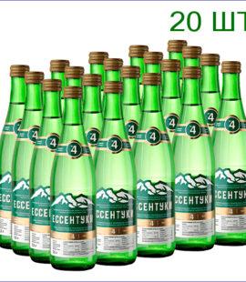 """Вода минеральная """"Ессентуки №4"""" 0,5л./20/СТ/газ"""