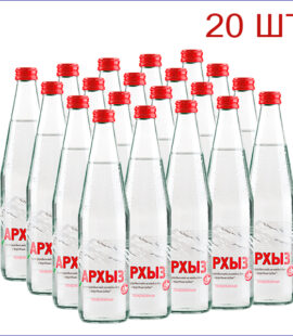 """Вода питьевая """"Архыз"""" 0,5л./20/СТ/газ"""