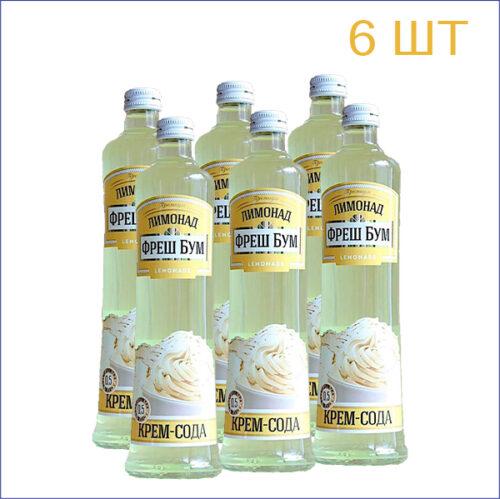 """Лимонад """"Фреш Бум"""" крем-сода 0,5л./6/СТ - 6"""