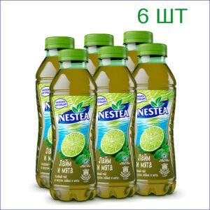 """Напиток """"Nestea"""" со вкусом лайма и мяты 0,5л./6/ПЭТ - 6"""