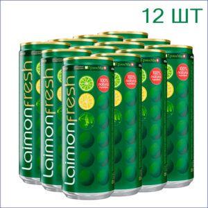 """Напиток """"Лаймон Фреш"""" 0,33л./12/ж/б - 12"""