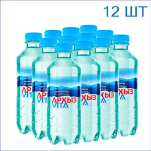 """Вода питьевая """"Архыз"""" 0,33л./12/ПЭТ/газ"""