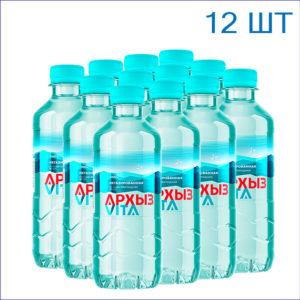 """Вода питьевая """"Архыз"""" 0,33л./12/ПЭТ/негаз"""