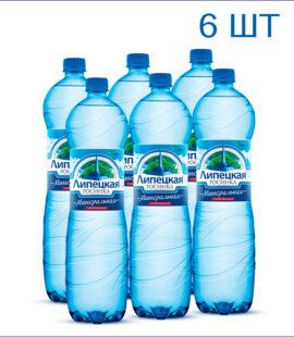"""Вода питьевая """"Липецкая Росинка"""" 1,5л./6/ПЭТ/газ"""