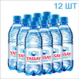 """Вода питьевая """"Tassay"""" 0,5л./12/ПЭТ/негаз"""