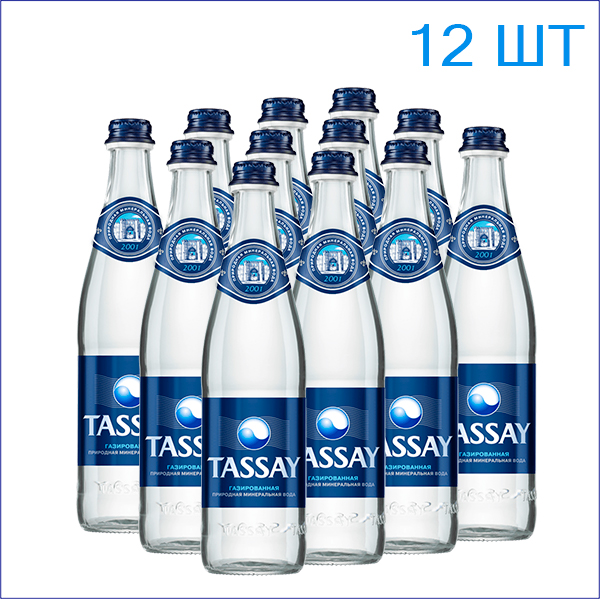 """Вода питьевая """"Tassay"""" 0,5л./12/СТ/газ"""