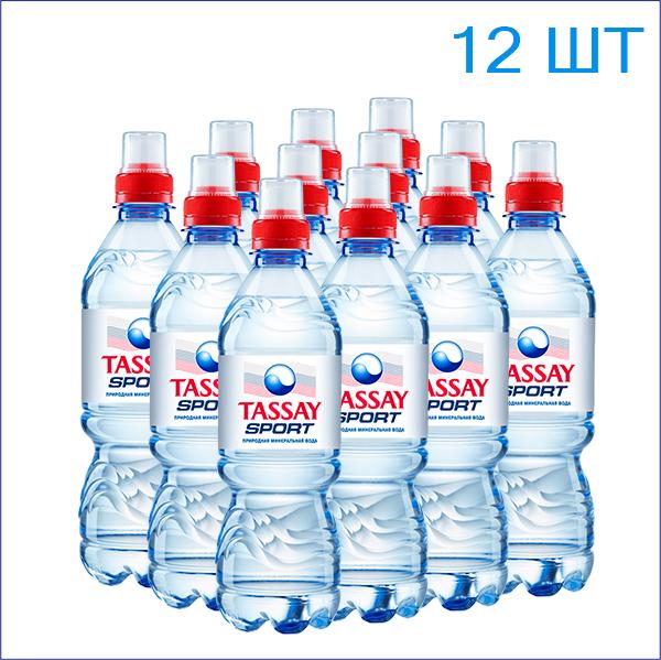 """Вода питьевая """"Tassay"""" 0,5л./12/ПЭТ/спорт"""