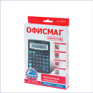 Калькулятор настольный ОФИСМАГ (200x150мм, 12 разрядов)