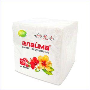Салфетки бумажные Лайма (100 шт, 24*24)