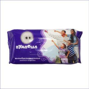 Влажные салфетки Пумпоша антибактериальные (60 шт)