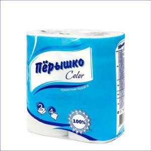 Бумага туалетная Пёрышко (4 рулона)