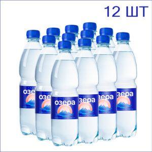 """Вода питьевая """"Родные Озёра"""" 0,5л./12/ПЭТ/газ"""