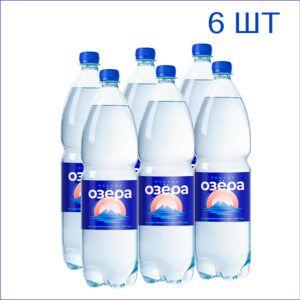 """Вода питьевая """"Родные Озёра"""" 1,5л./6/ПЭТ/газ"""