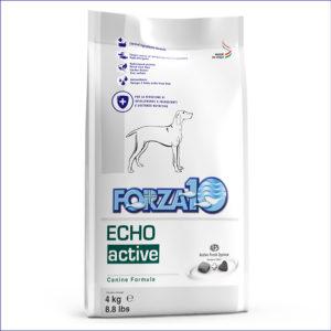 FORZA10 Echo Active диетический корм для взрослых собак с патологиями слуховых органов из рыбы 4 кг