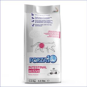 FORZA10 Intestinal Active диетический для взрослых кошек с расстройствами ЖКТ 1,5 кг