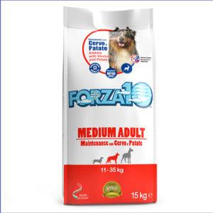 FORZA10 Medium Adult Maintenance для взрослых собак средних пород из оленины с картошкой 15 кг
