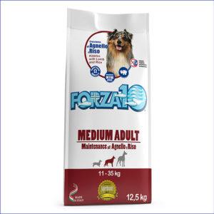 FORZA10 Medium Adult Maintenance для взрослых собак средних пород из ягнёнка с рисом 12,5 кг