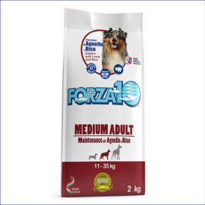 FORZA10 Medium Adult Maintenance для взрослых собак средних пород из ягнёнка с рисом 2 кг