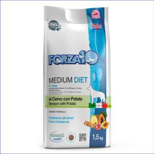 FORZA10 Medium Diet 25/12 гипоаллергенный для взрослых собак средних пород из оленины с картофелем 1,5 кг