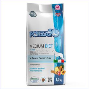 FORZA10 Medium Diet 24/11 гипоаллергенный для взрослых собак средних пород из рыбы 1,5 кг