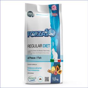 ORZA10 Regular Diet al Pesce гипоаллергенный корм для взрослых кошек для сокращения симптомов пищевой непереносимости 1,5 кг