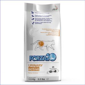 FORZA10 Urinary Active диетический для взрослых кошек с патологиями мочевыводящих путей 1,5 кг